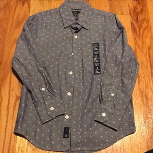 Gap boys button down S 6-7